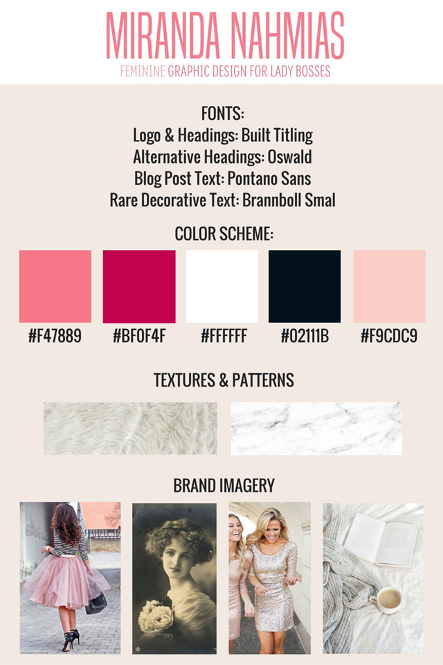 How to Create a Style Guide for your Blog // Miranda Nahmias @mirandanahmias