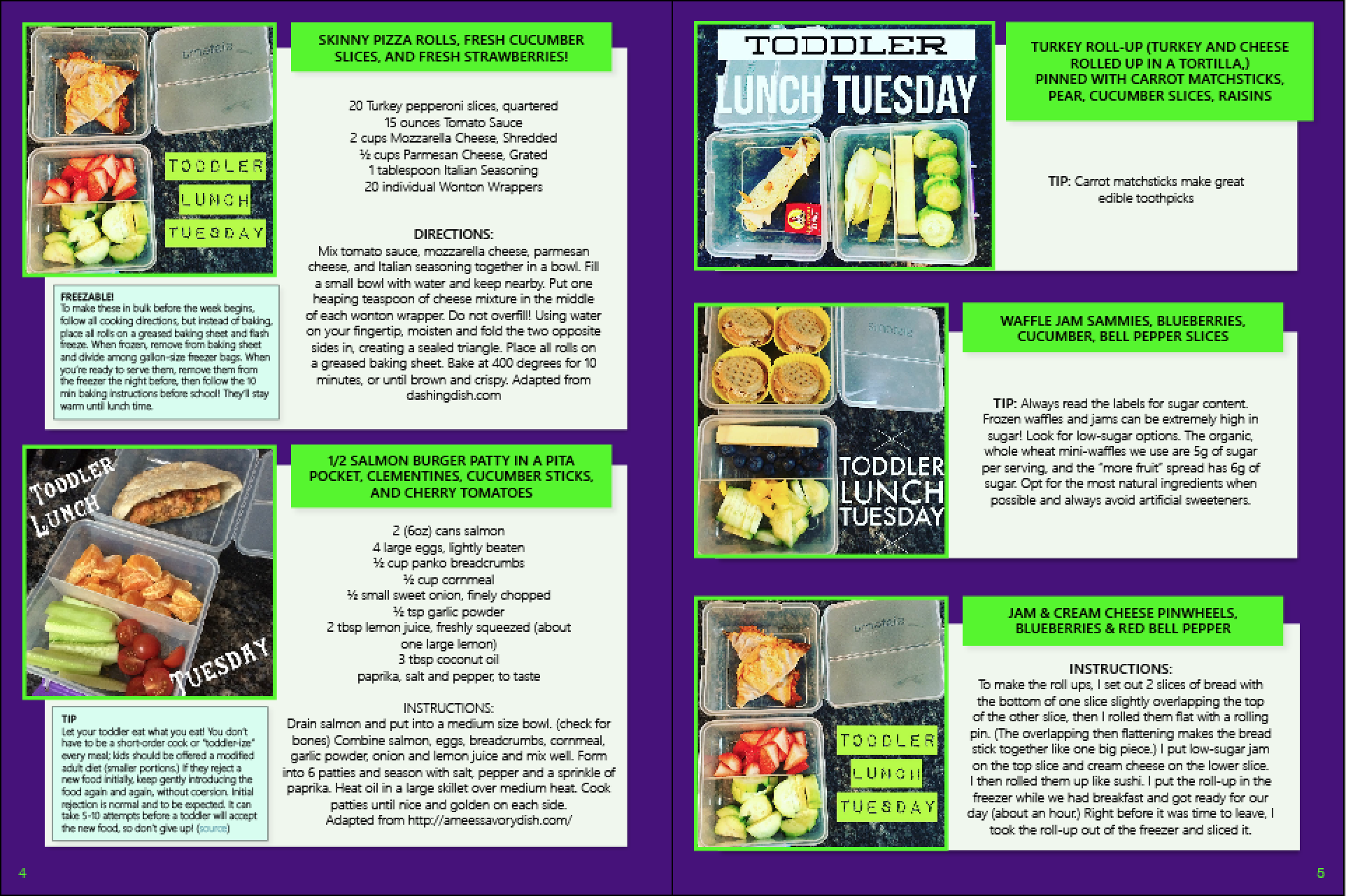 Toddler Lunches ebook sample