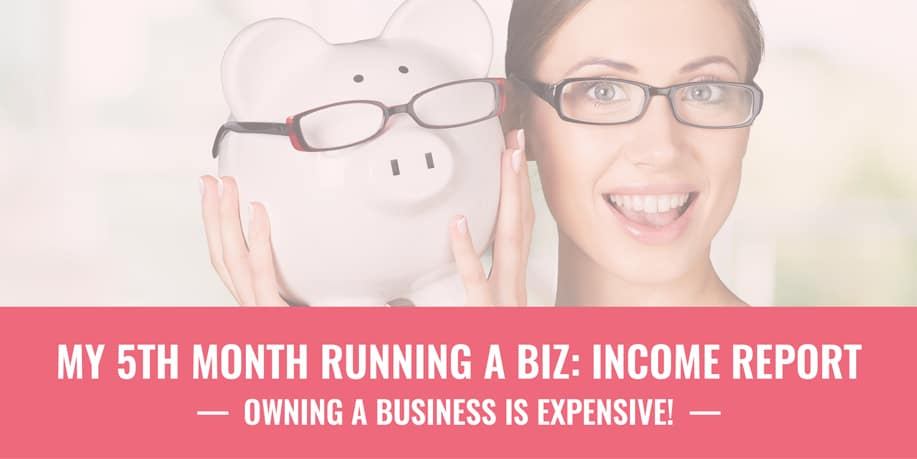 My 5th Month Running a Biz: Income Report // Miranda Nahmias