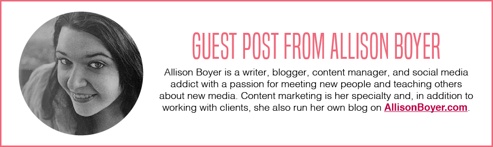 Allison Boyer Guest Post on Blog Post Ideas