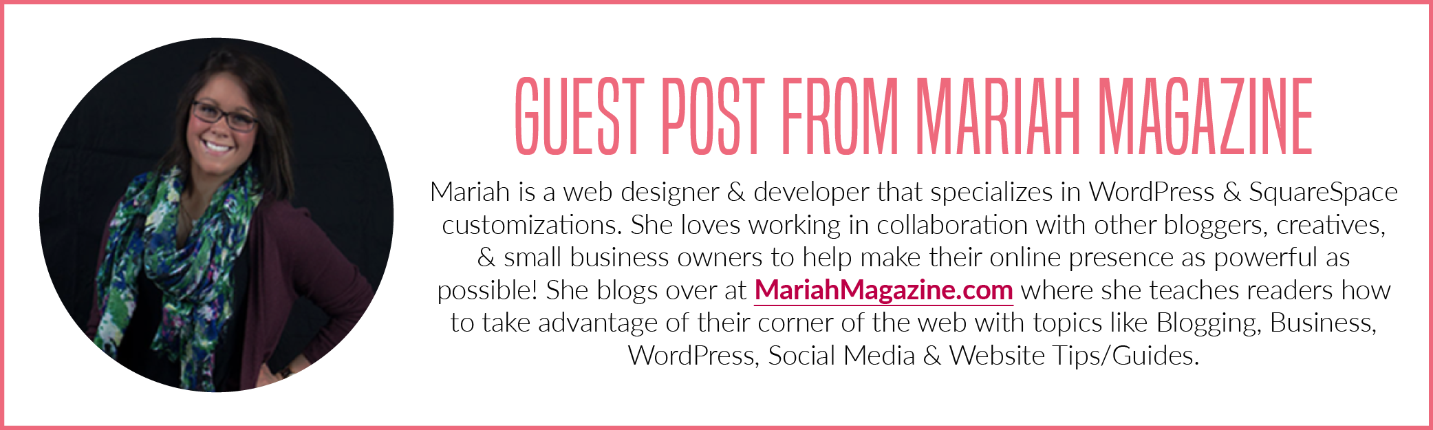 Mariah Magazine Guest Post