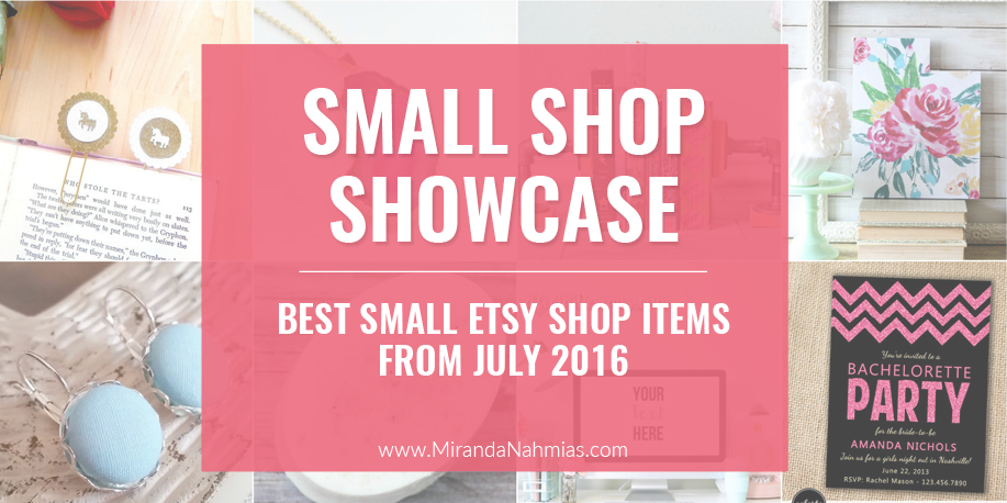 Small Shop Showcase July 2016 Twitter