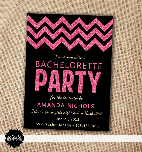 Bachelorette Party Invitations Etsy Shops July 2016