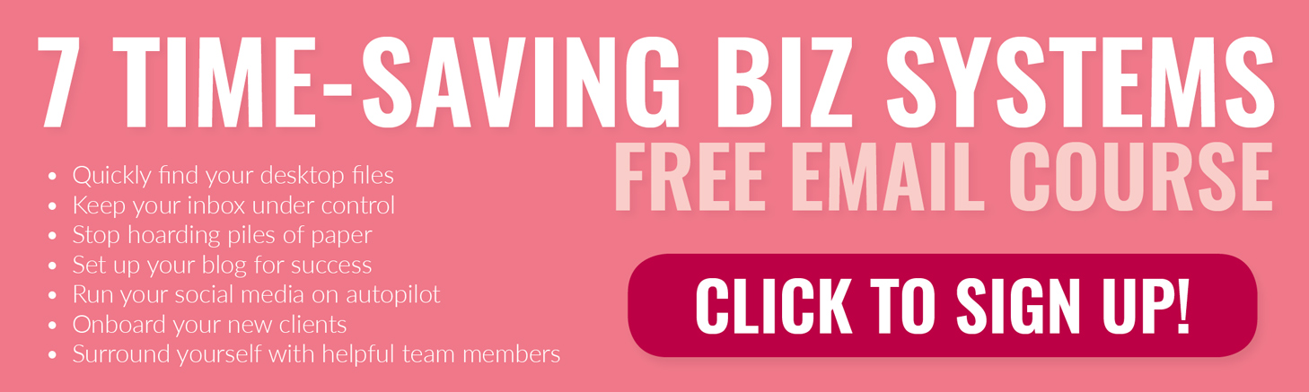 7 Time-Saving Biz Systems Free Email Course