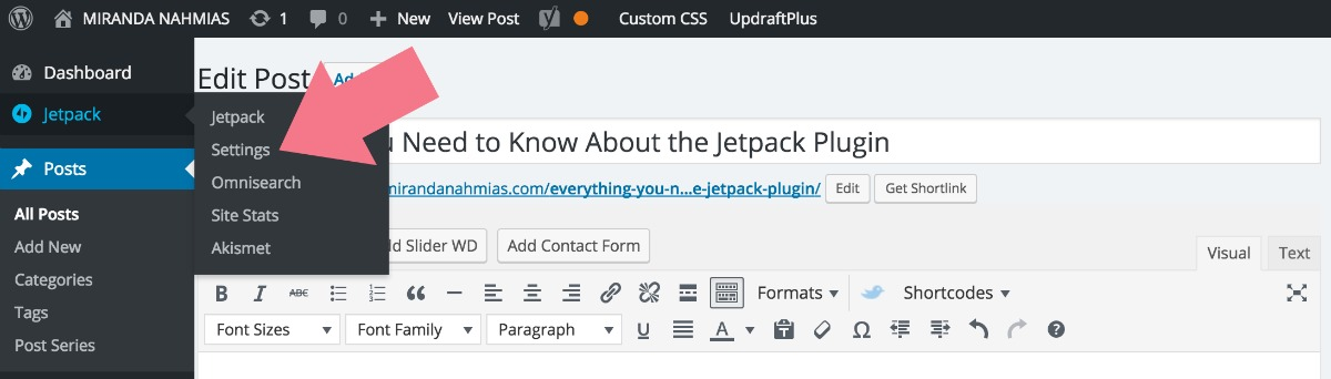 Everything You Need to Know About the Jetpack Plugin Settings