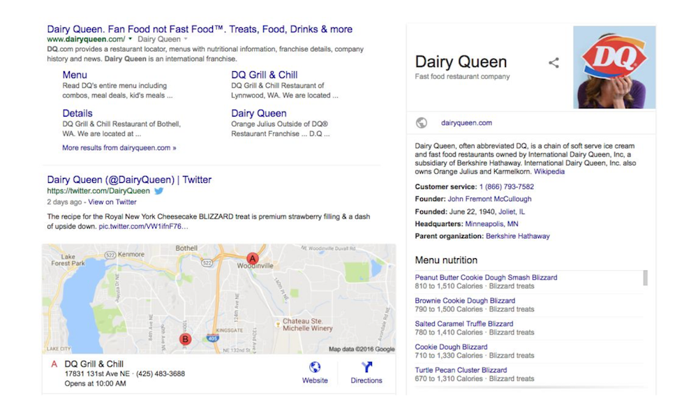 Dairy-Queen-Google-Search-SEO-Myths