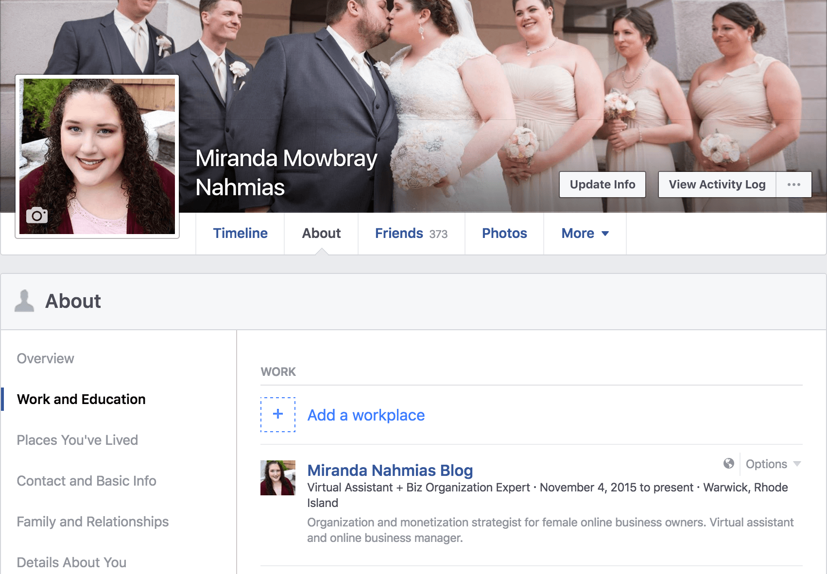 Facebook Personal Page Privacy
