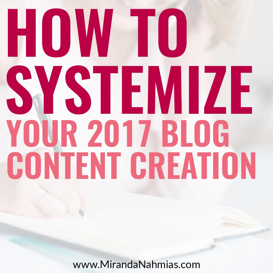2017 Blog Content Creation Square