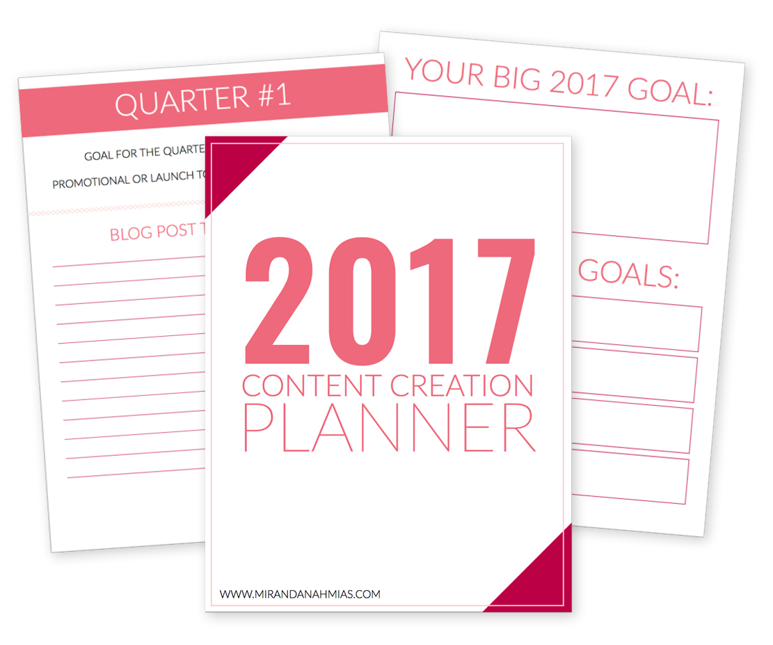 2017 Content Planner Mockup