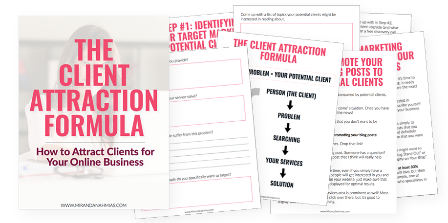Client Attraction Formula Multi-page Mockup