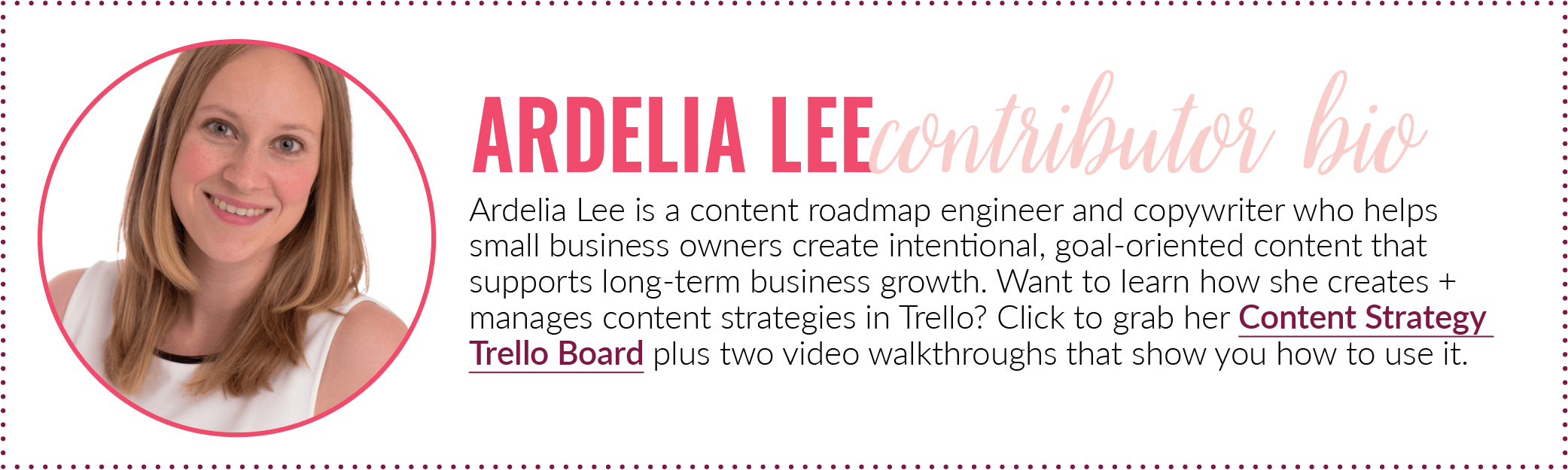 Grow Your Business Network Ardelia Lee Bio