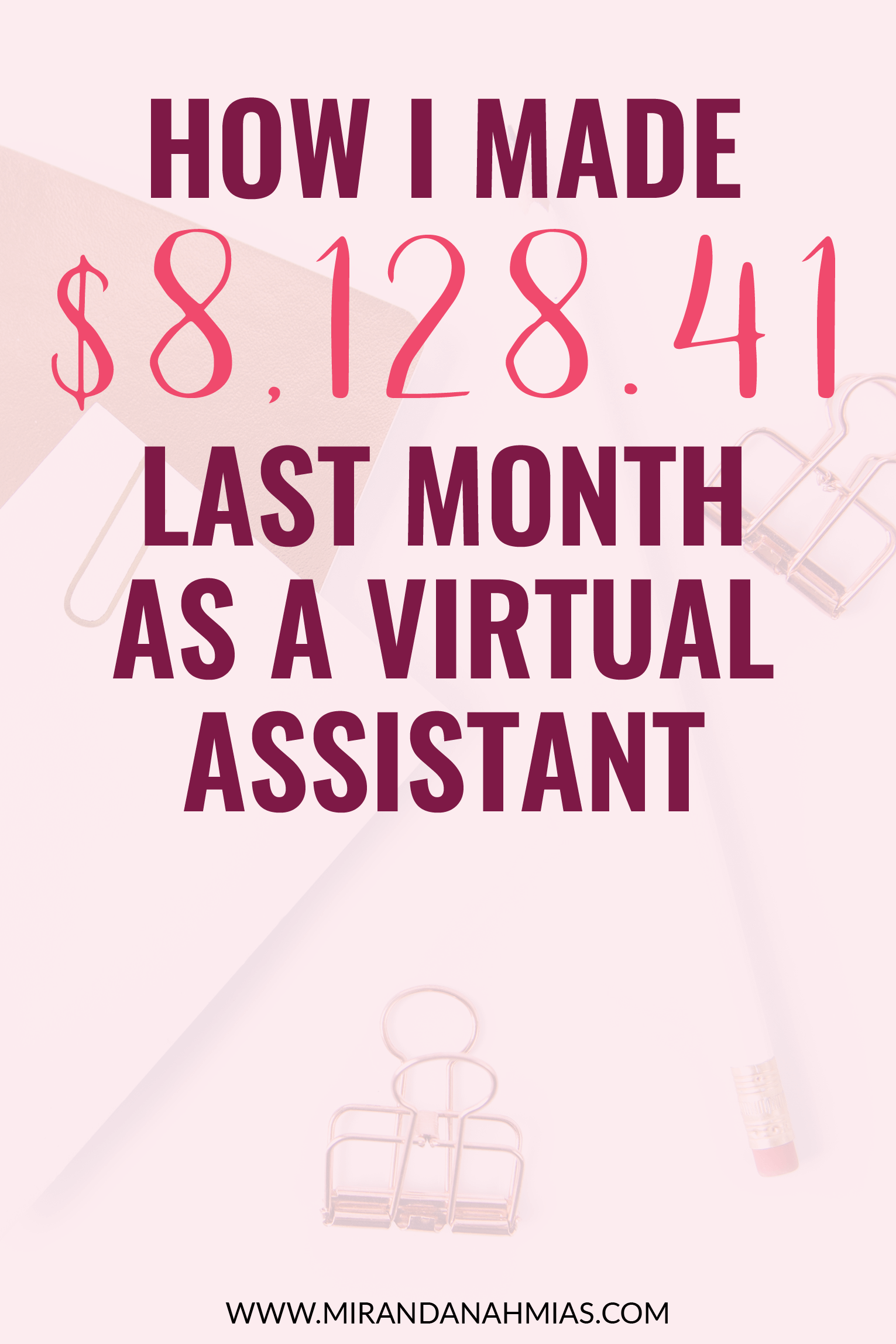 What It's Like to Make Over $8,000 Per Month as a Virtual Assistant. The February 2017 income report from a growing online service provider // Miranda Nahmias