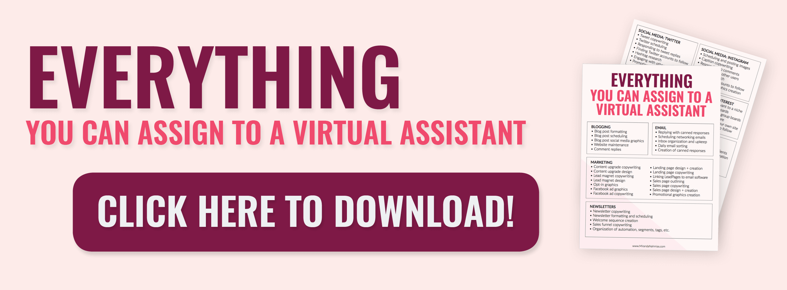 Everything You Can Assign to a Virtual Assistant