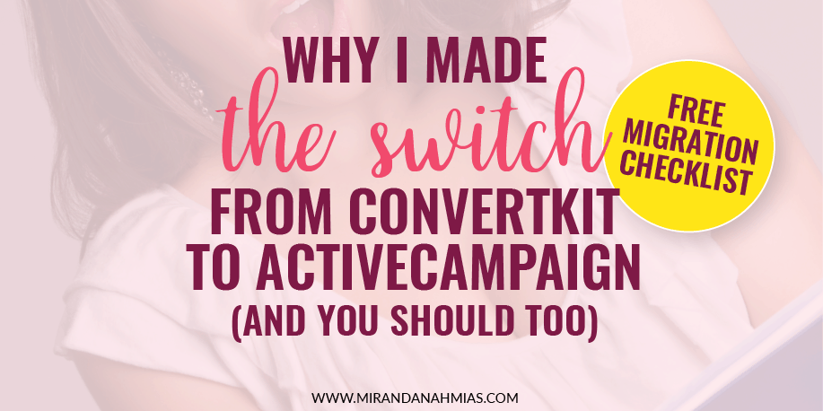 Why I Made The Switch From ConvertKit To ActiveCampaign (and You Should Too)