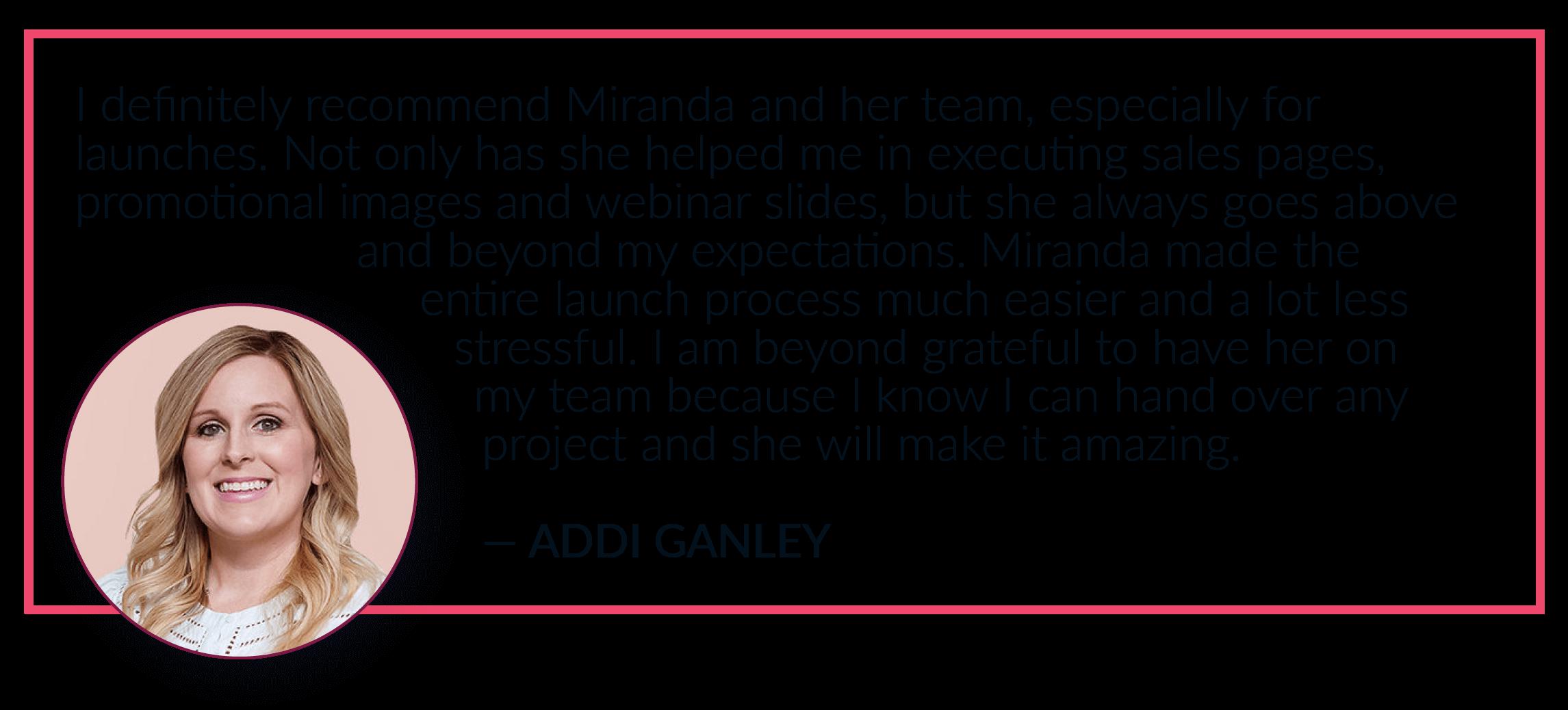 Addi Ganley Client Love