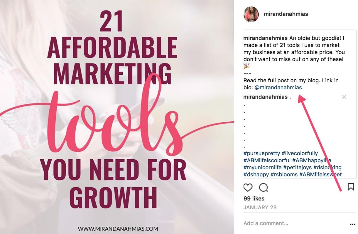 How to get vsco link on instagram bio