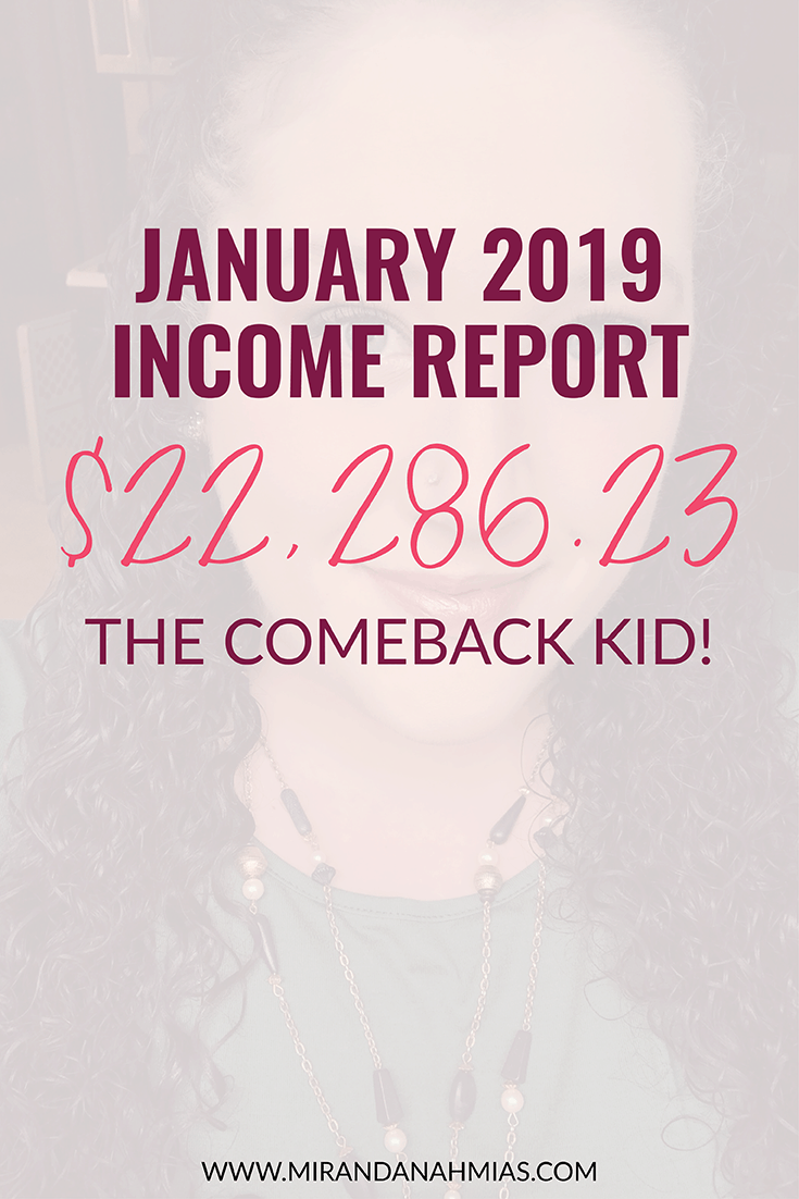 January 2019 Income Report // Miranda Nahmias