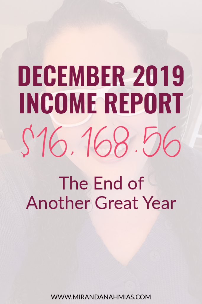 My December 2019 Income Report: The End of Another Great Year | Miranda Nahmias & Co. Systematic Marketing for Service Providers