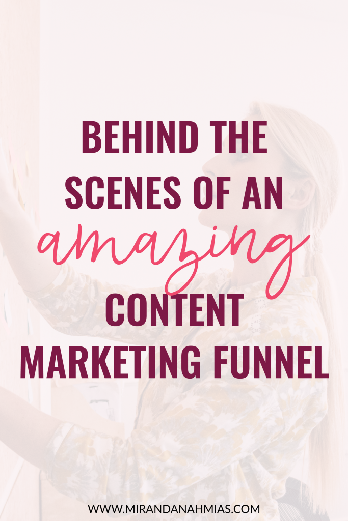 Behind the Scenes of an Amazing Content Marketing Funnel | Miranda Nahmias & Co. Systematic Marketing for Service Providers