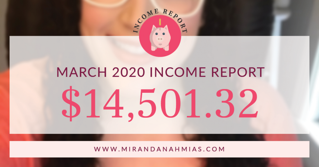 My March 2020 Income Report: Month 1 of Quarantine | Miranda Nahmias & Co. Systematic Marketing for Service Providers