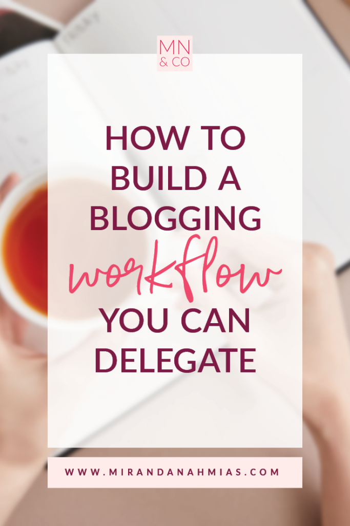 How to Build a Blogging Workflow You Can Delegate | Miranda Nahmias & Co. Systematic Marketing for Service Providers
