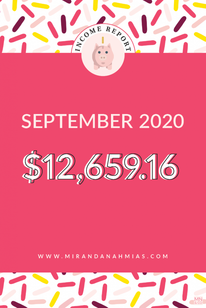 My September 2020 Income Report | Miranda Nahmias
