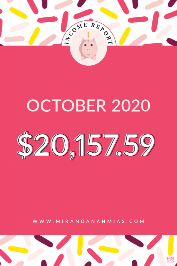 October 2020 Income Report | Miranda Nahmias & Co. Systematic Marketing for Service Providers
